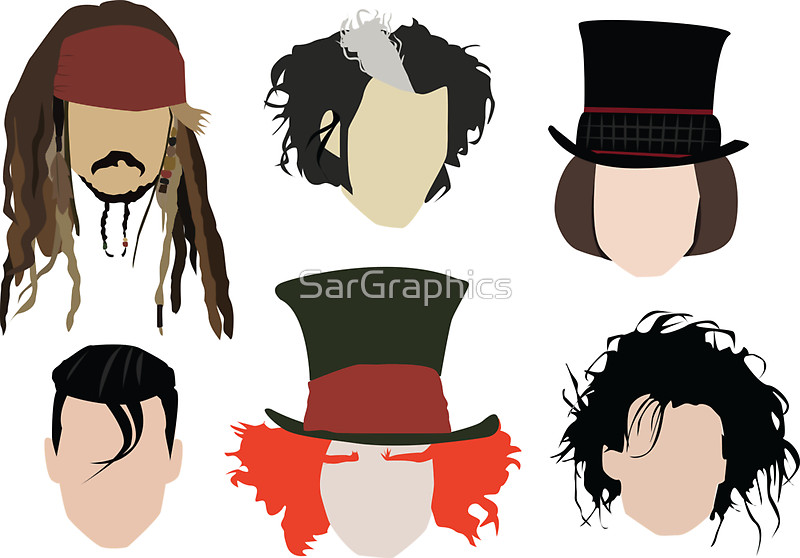 Johnny Depp - Famous Characters by SarGraphics