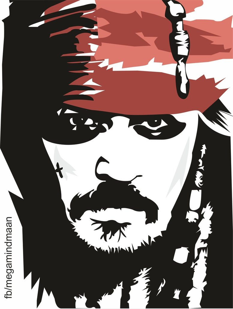 Low Res Vector Art ~Johnny Depp~ by megamindmaan hdclipartall.com