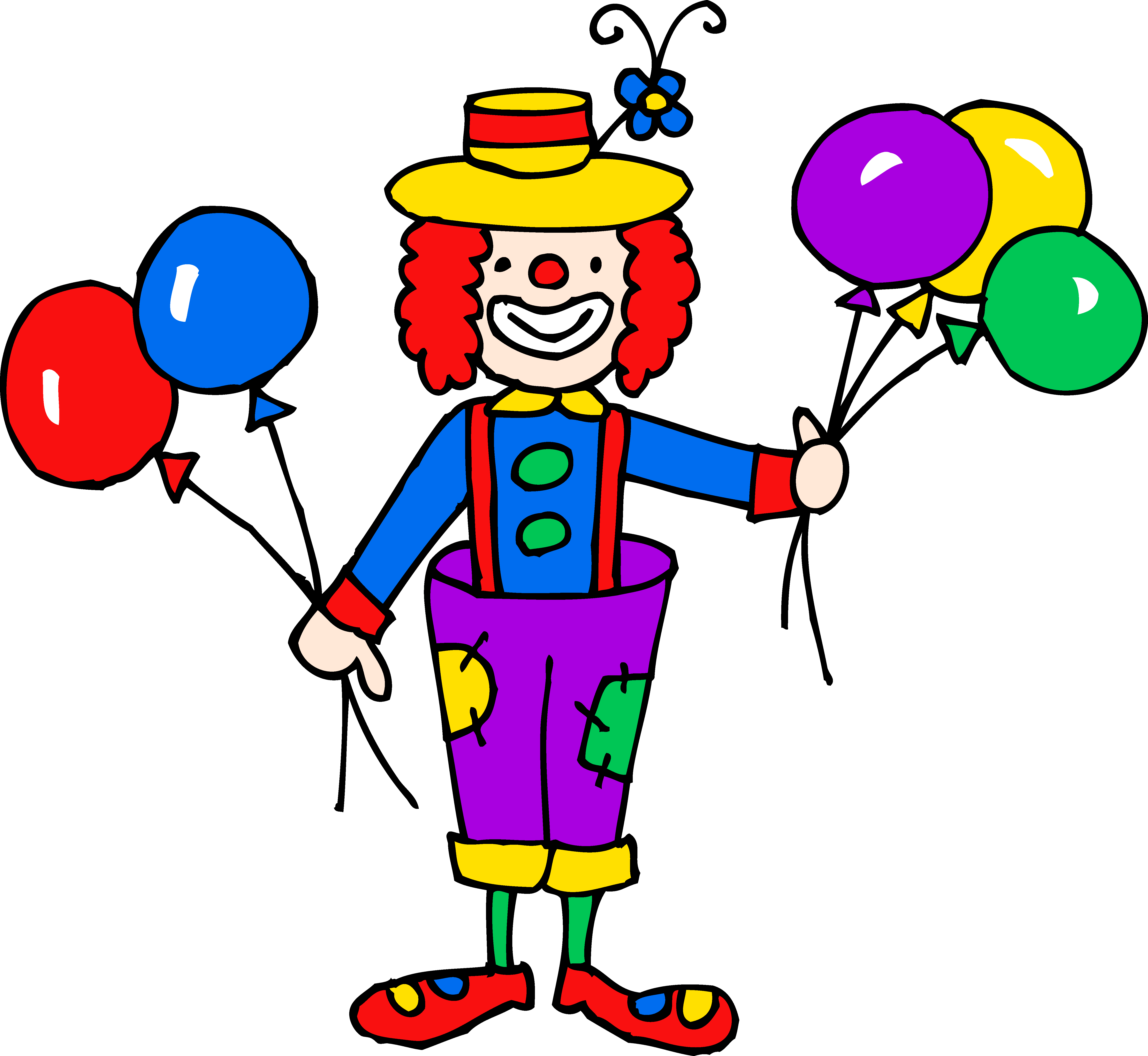 Crazy joker clipart