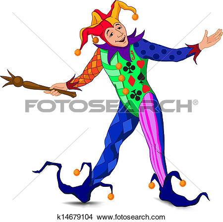 Jolly Joker in a bright dress