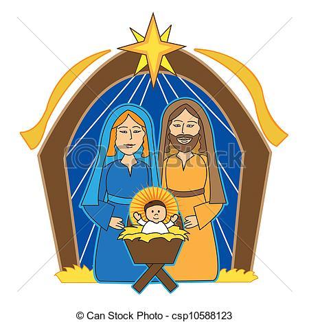 joseph and baby jesus.