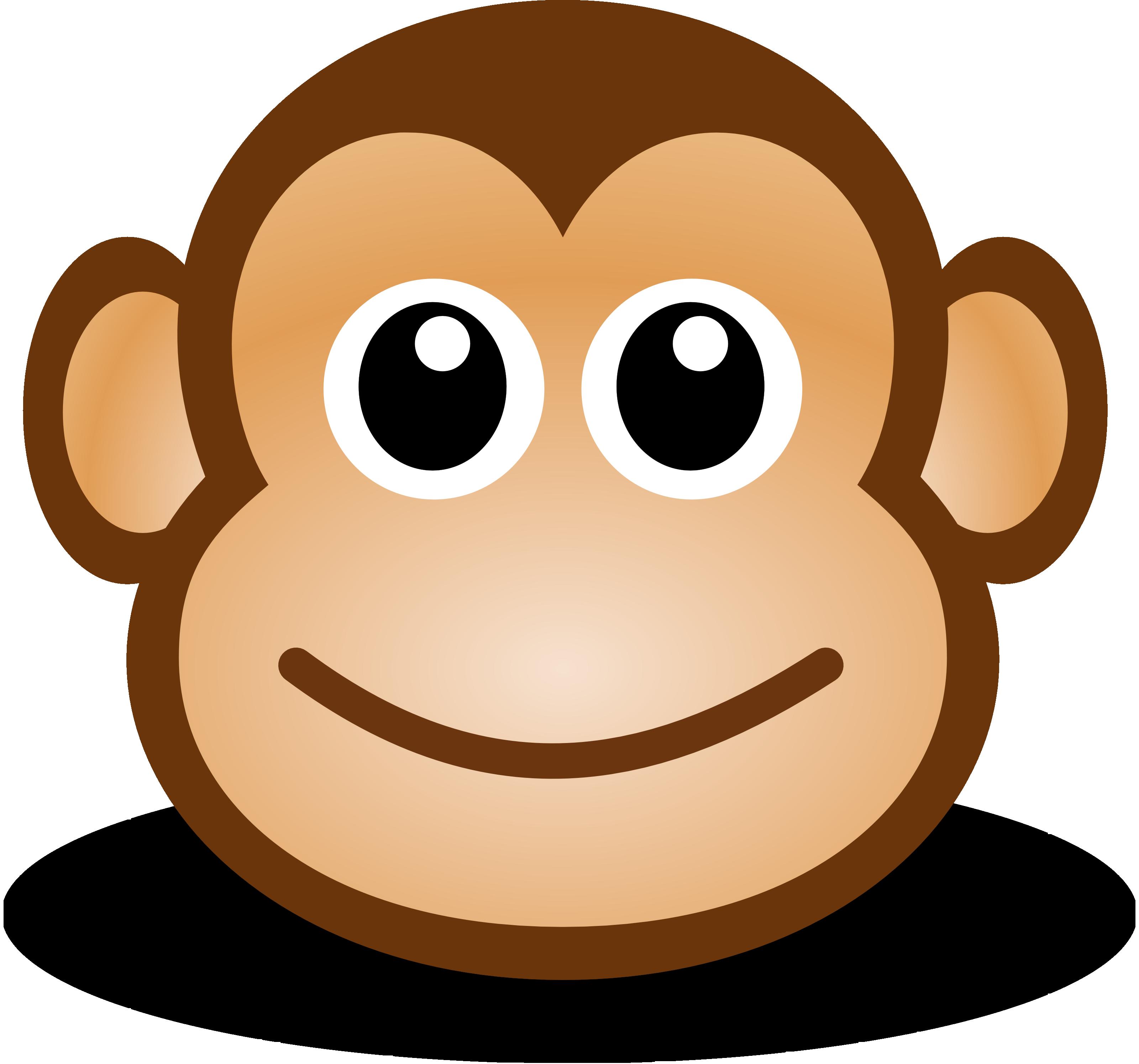 .jpg, .png, .svg,. Free Cute Cartoon Monkey Clipart Illustration