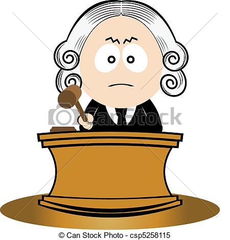 ... Judge using his gavel. Vector illustration for you design