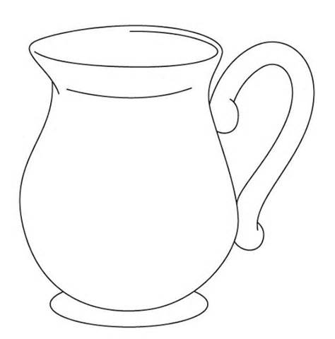 Jug Clipart Black And White