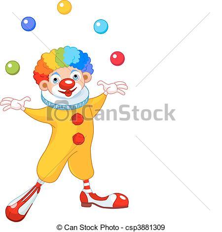 Juggling Clown - csp3881309