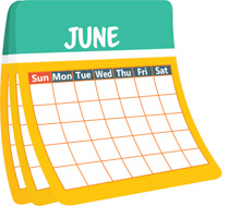 monthly calender june clipart. Size: 150 Kb
