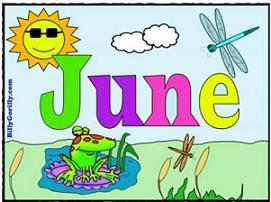 June with summer scene
