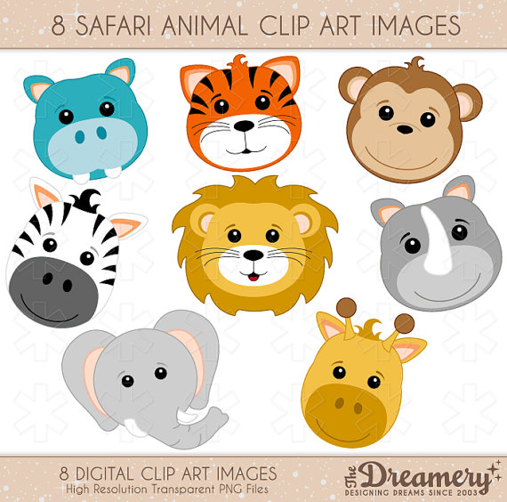 Jungle Animal Clipart , Baby ... 1000  images about Baby shower .