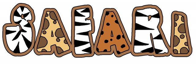 Jungle Safari Clipart Single Word Art ...