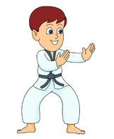 karate stance. Size: 49 Kb