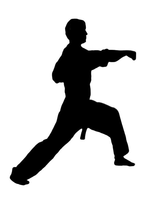 Karate figures clipart kid 3