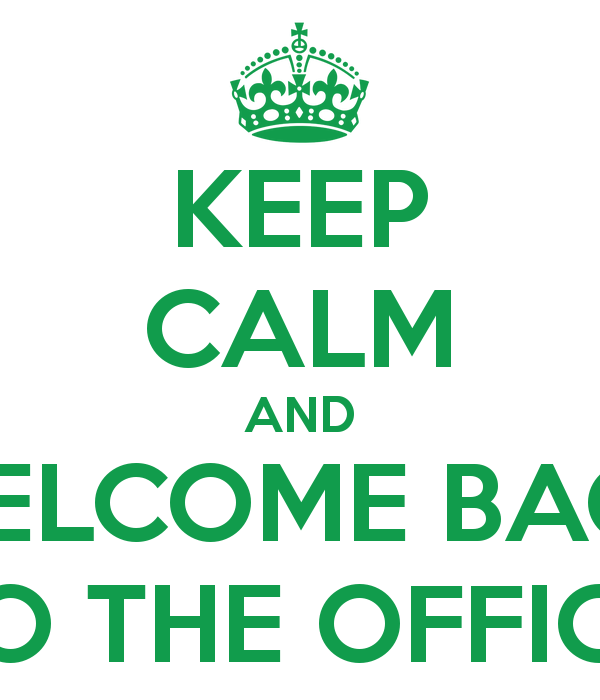 Keep Calm Welcome Back Clip Art