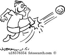 kick, action, ball, cartoon, cartoons, goal, people, soccer, sport,. ValueClips Clip Art