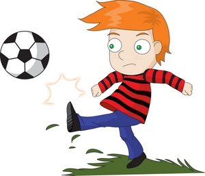 Kickball Boy Clipart