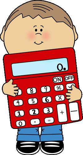 Kid Holding Calculator