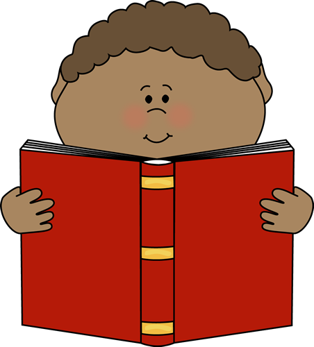 452x500 Child Reading Clip Art