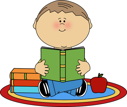 Boy Reading School Book Clip Art