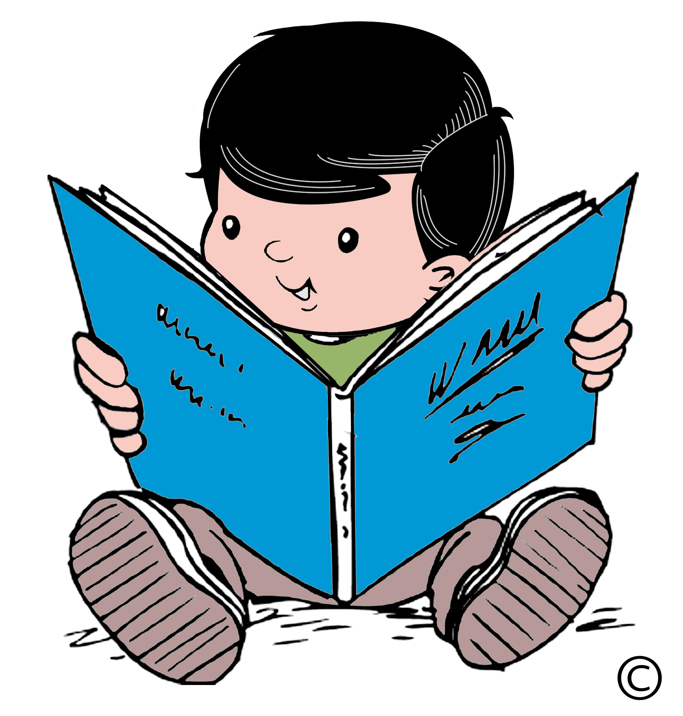 Child reading | Clipart library - Free Clipart Images