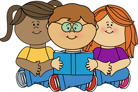 Clipart Of Kids Reading