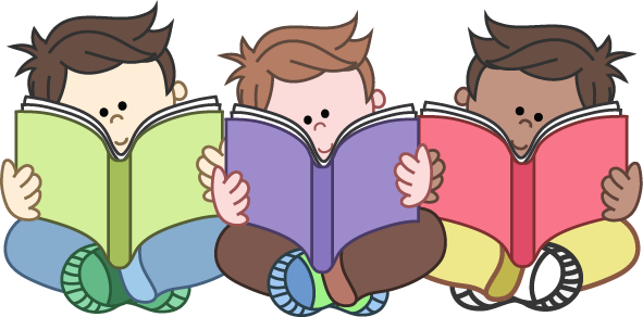Kid Reading Reading Group Clipart