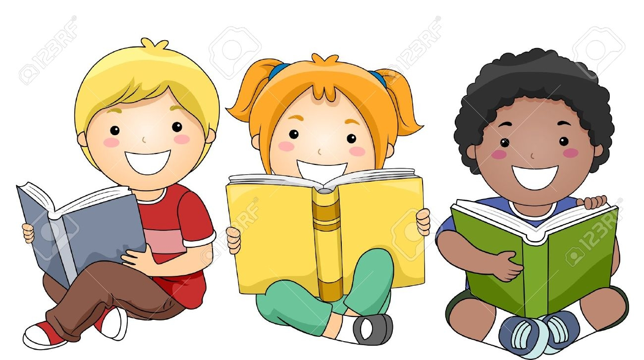 Kids Reading Clip Art - Kid Reading Clipart