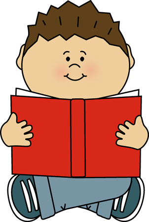 Kids Reading Clipart - PNG Image #12565