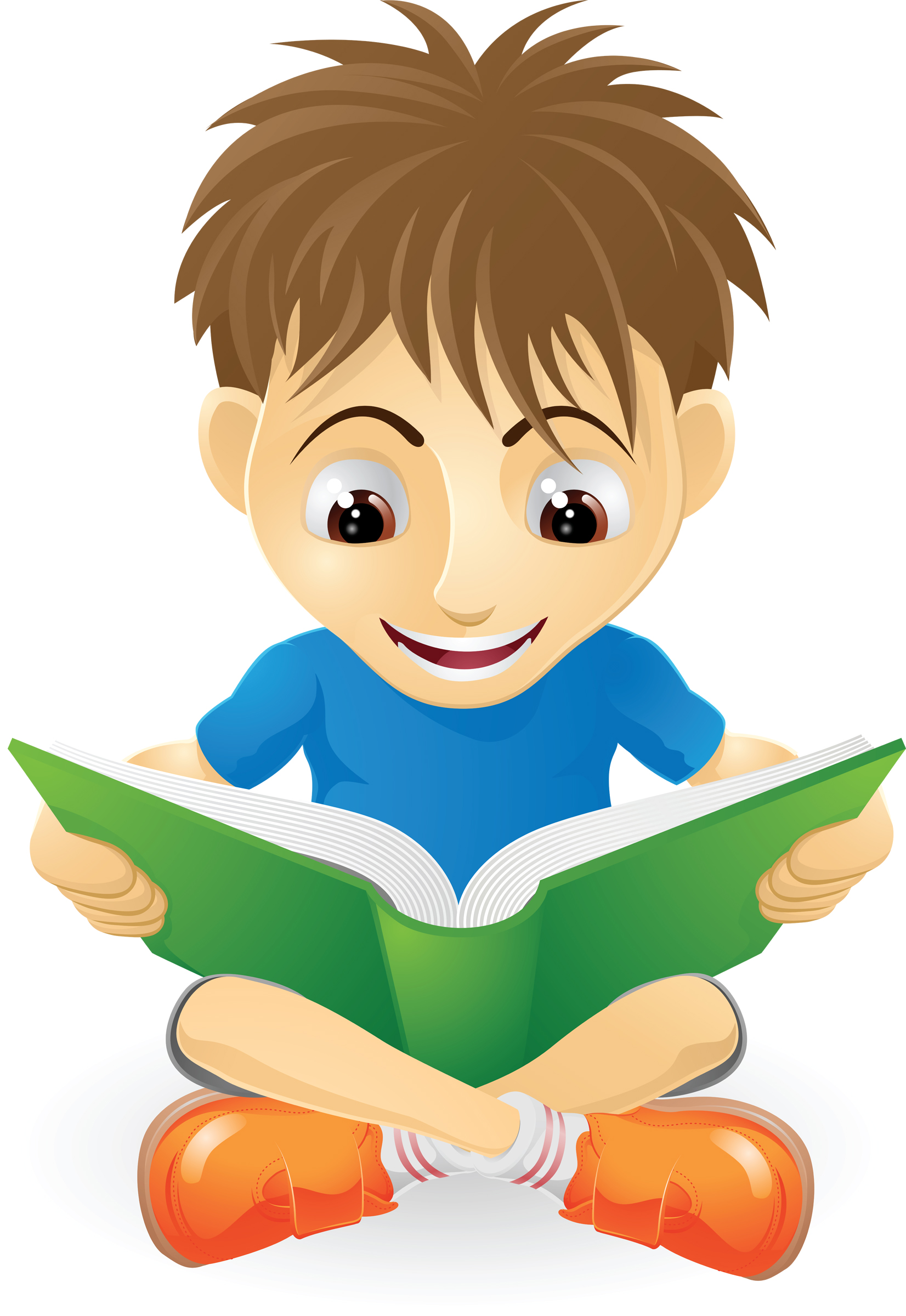 Picture of kids reading clip art