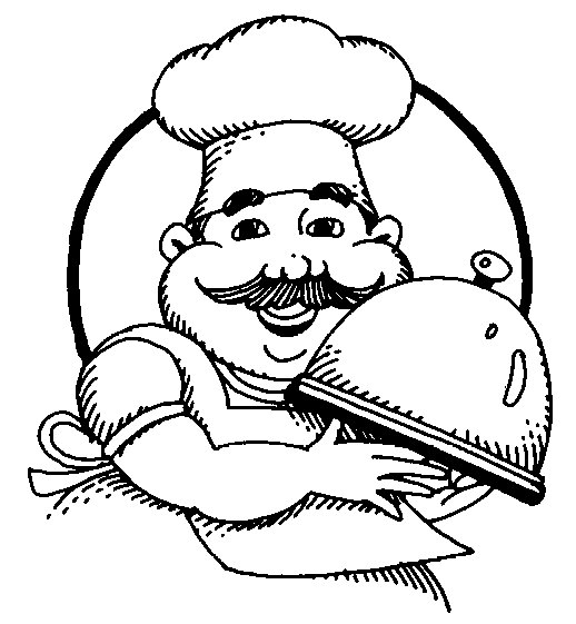 kids cooking clipart black and white