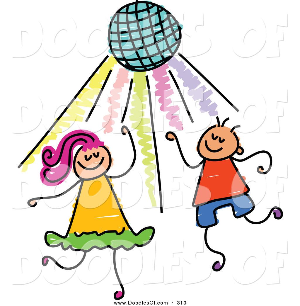 kids dance party clipart