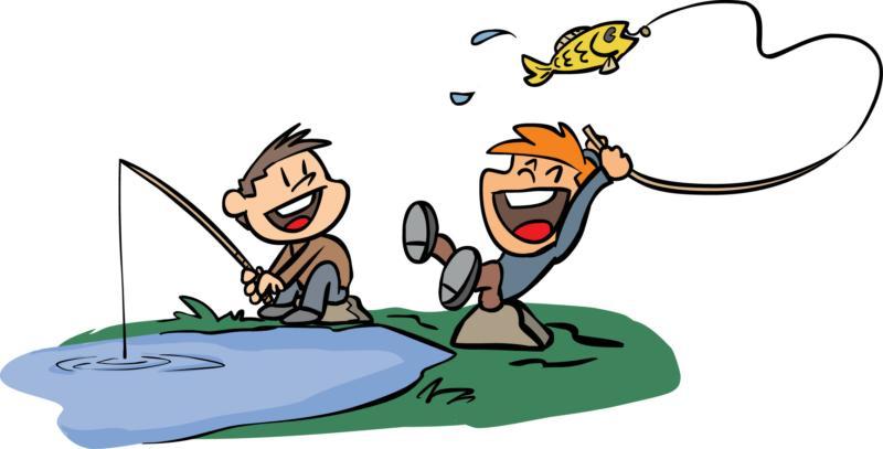 kids fishing clipart - Fishing Clipart