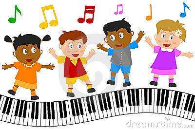 Kids Dancing Royalty Free .