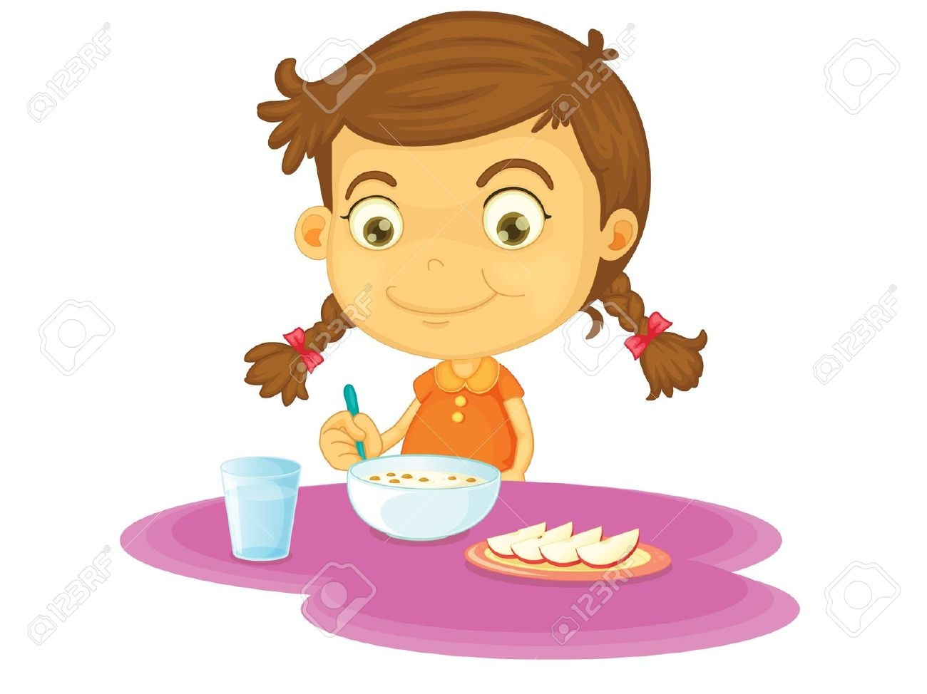 Kids Eating Healthy Clipart .