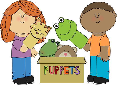 Kids Playing with Puppets