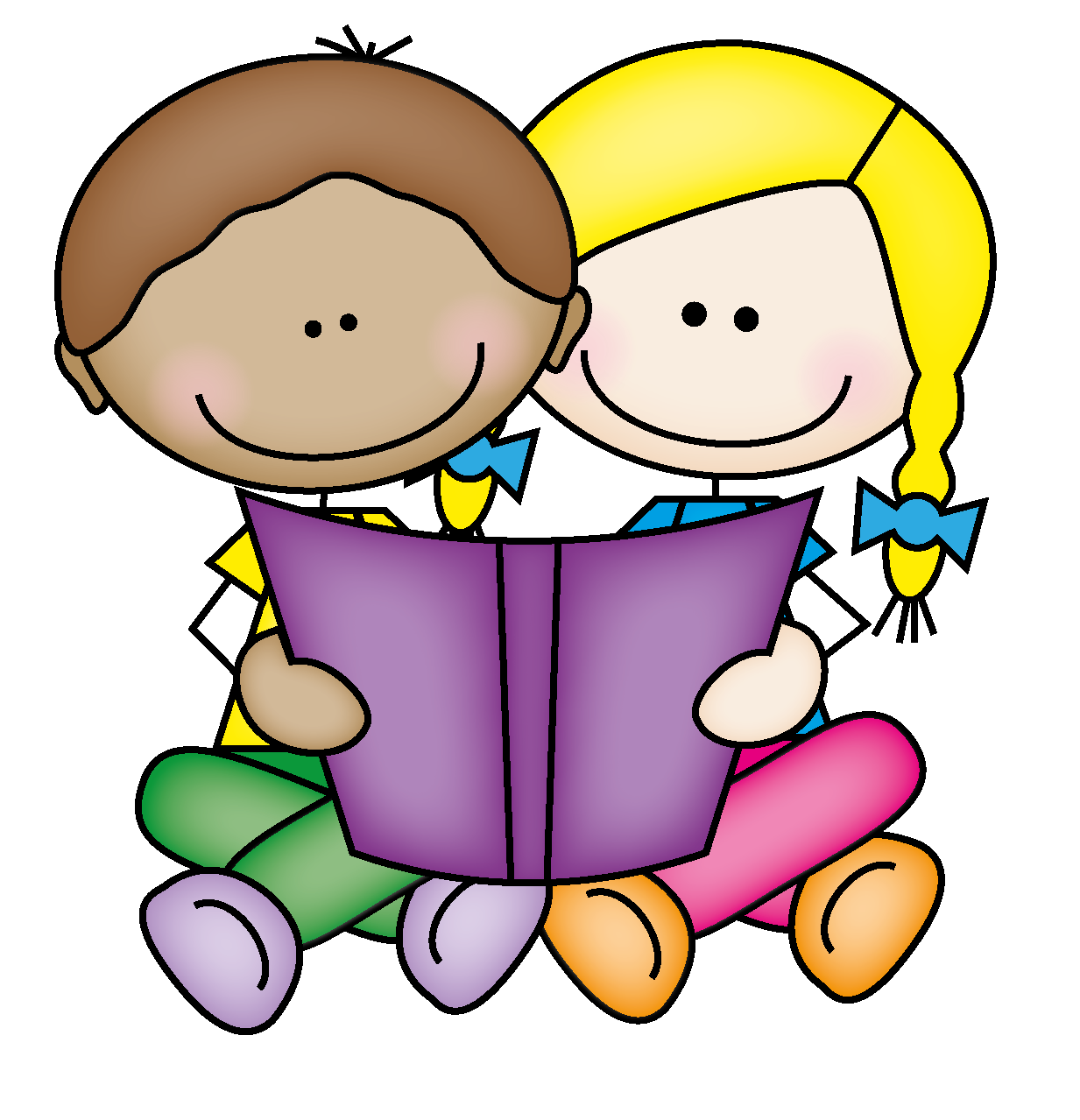 Kids reading clipart - ... Hope Everyone Enjoyed Our Book .
