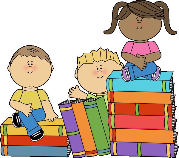 Kids Sitting on Books