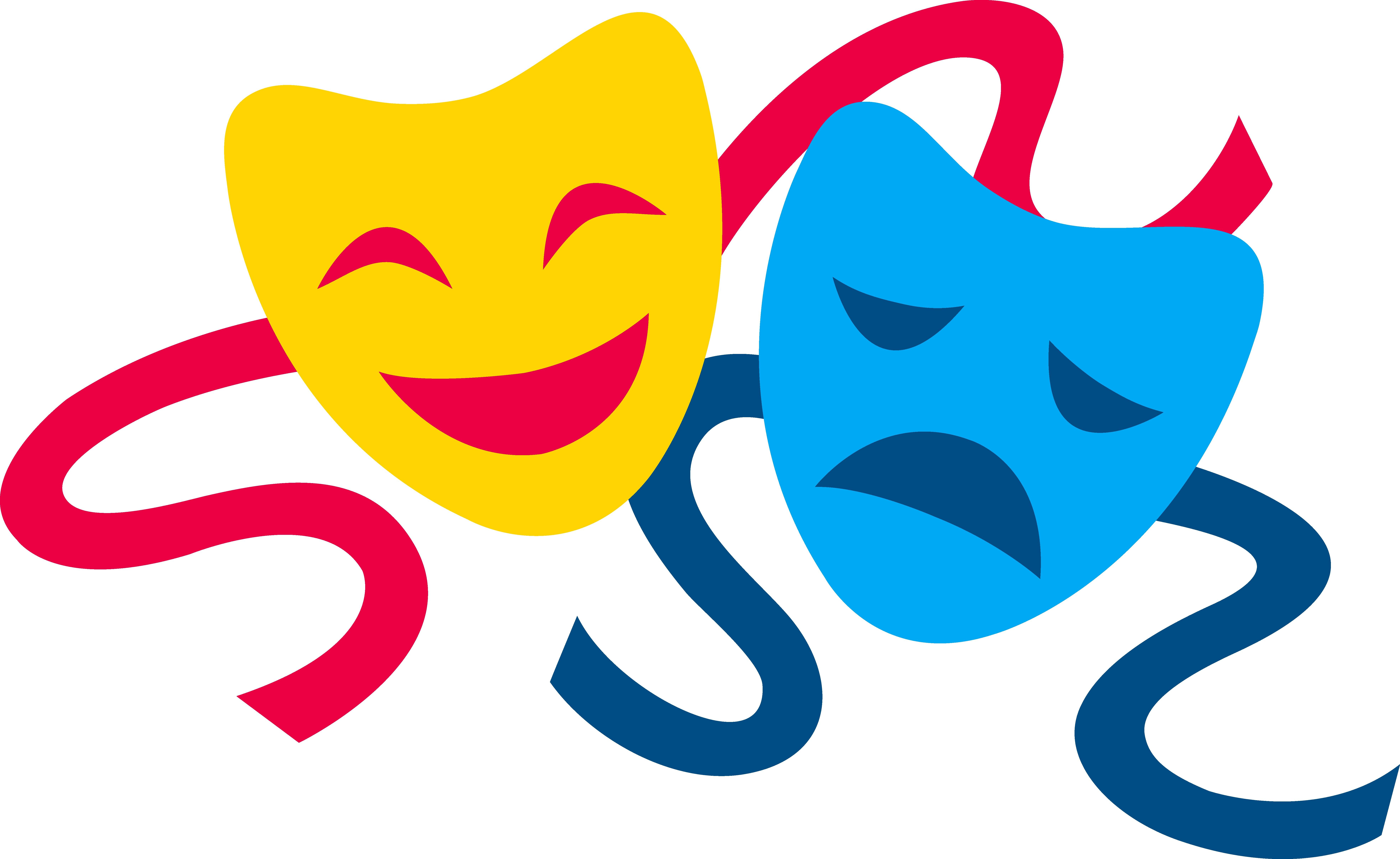 Kids Theatre Masks - ClipArt .