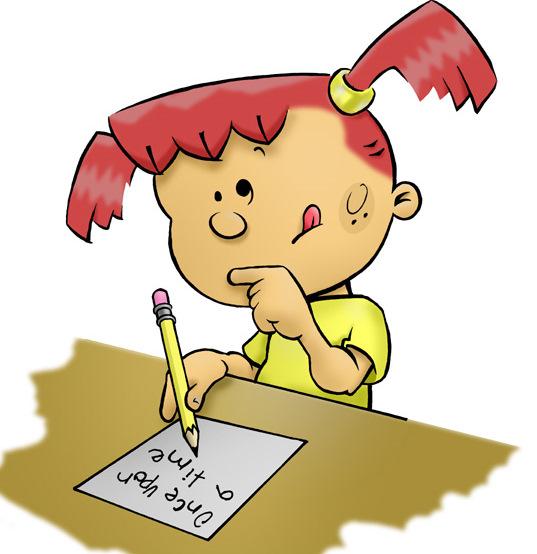 Kids writing clipart 2