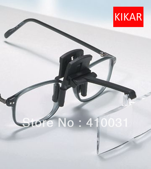 KIKAR Clip on Flip up Glasses 4pc Folding Magnifier Reading Magnifying Hand Free Toys Jeweler Loop and Jewelry Loupe Hat Dental