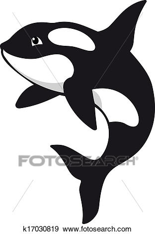 Clip Art - Killer whale. Fotosearch - Search Clipart, Illustration Posters,  Drawings,