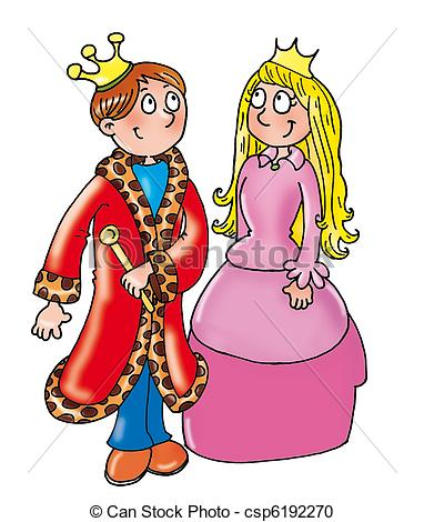 king and queen clipart