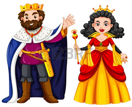 king and queen: King and queen with happy face illustration Illustration