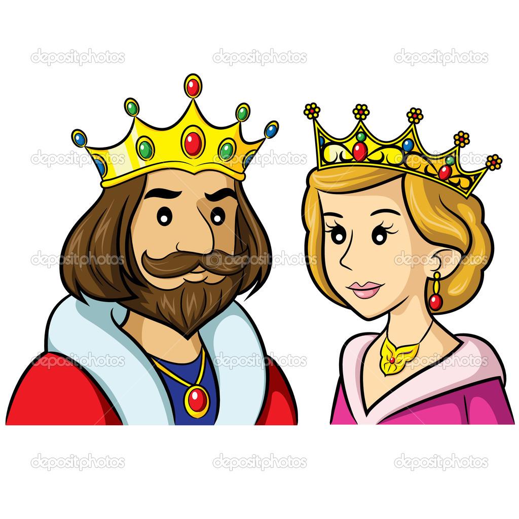 King Queen Cartoon u2014 Stock .