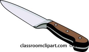 Kitchen Chefs Knife 119 Classroom Clipart