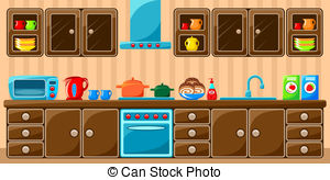 Stock Illustrationby Ganko26/1,499 Kitchen interior. Vector illustration