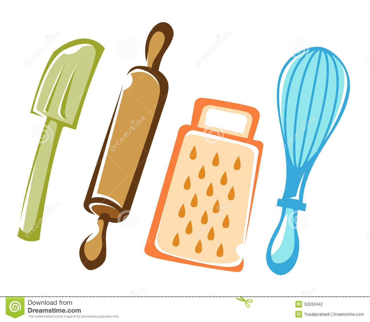 Cooking And Baking Kitchen Tools Stock Photography - Image: 32633442