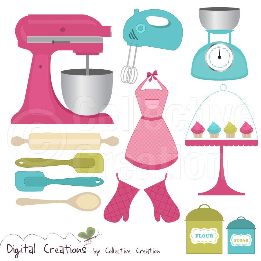 Kitchen Tools Clip Art - Free Large Images More