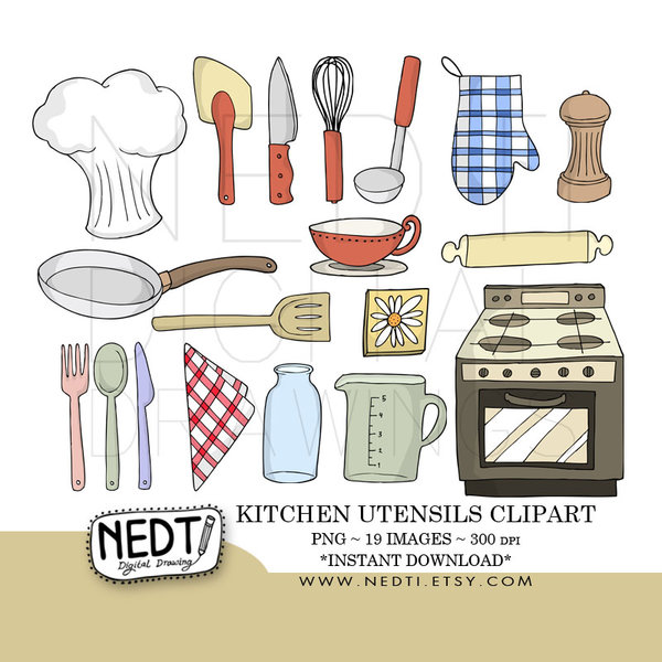 Kitchen Utensils Clip Art by Nedti hdclipartall.com