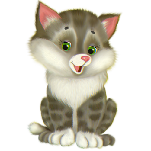 Cute Kitten Cartoon Free Clipart