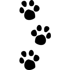 kitten paw print clip art .