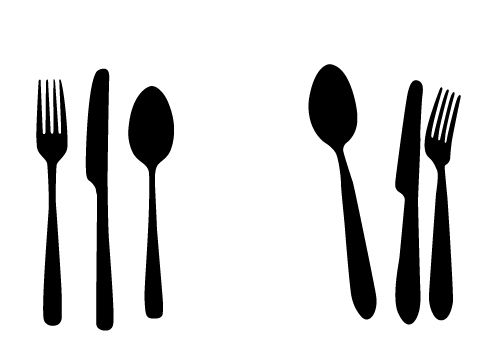 Free Spoon Knife and Fork vectors for your Kitchen Designs #silhouette # vector #Free #Clipart